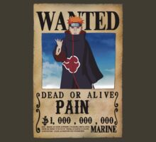 Wanted Poster Pain  by BadrHoussni
