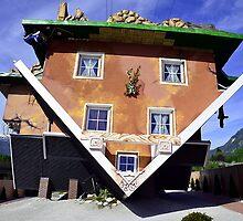 The House Upside Down in Austrian Tyrol by Elzbieta Fazel