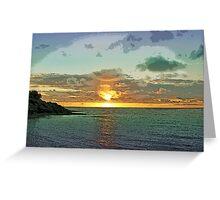 Uplifting Sunset Greeting Card