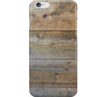Horizontal worn plank wall iPhone Case/Skin