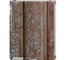 Vertical red plank wall with mold iPad Case/Skin