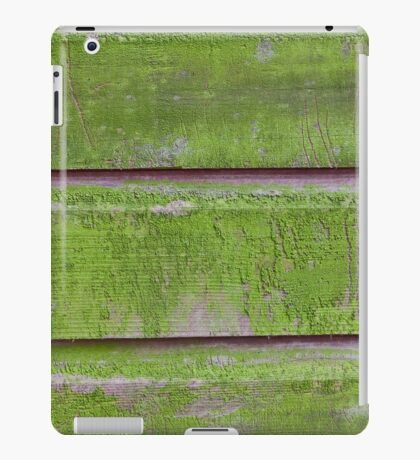Horizontal plank wall with green mold iPad Case/Skin