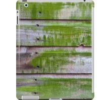 Horizontal plank wall with green mold iPad Case/Skin