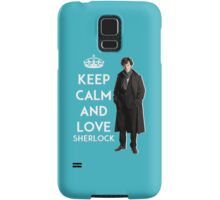 KEEP CALM AND LOVE SHERLOCK - ACQUA BLUE Samsung Galaxy Case/Skin