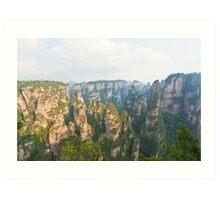 Zhangjiajie National Park in China Art Print