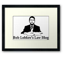 Arrested Development - Bob Loblaw's Law Blog Framed Print