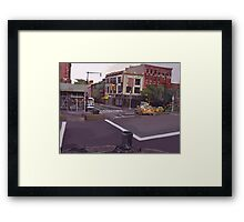 106th street and Broadway city scape Framed Print