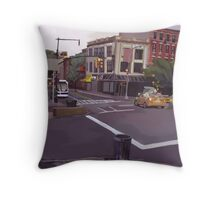106th street and Broadway city scape Throw Pillow