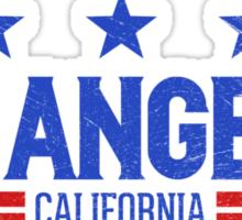 Retro Los Angeles, CA (Blue) Sticker