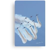 Red Arrows at Waddington Airshow Canvas Print
