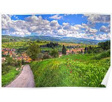 The road to Greve, Tuscany Poster