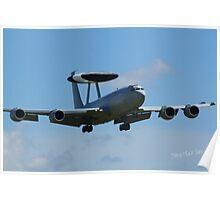 AWACS landing at Waddington Airshow Poster