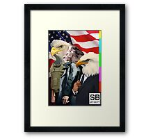 american super powers  Framed Print