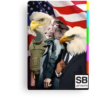 american super powers  Canvas Print