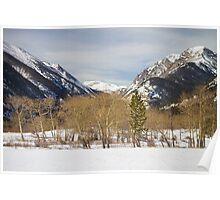 Colorado Rocky Mountain Winter Horseshoe Park Poster