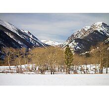 Colorado Rocky Mountain Winter Horseshoe Park Photographic Print