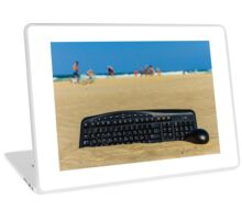 Beach office Laptop Skin