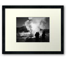 El Tatio at sunrise Framed Print