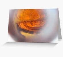 Lighting in a Beer Bottle Greeting Card
