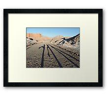 Shadows in the desert Framed Print