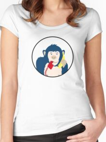 Confused Monkey iPhone case Women's Fitted Scoop T-Shirt