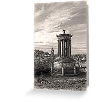 A Portrait of Edinburgh Sepia Greeting Card