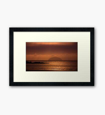 sunset on ailsa Framed Print