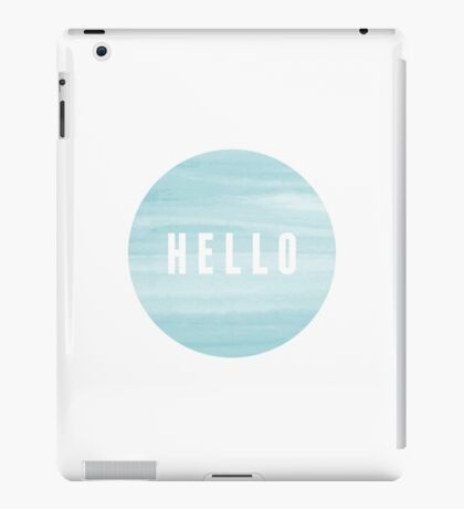 Abstract Blue Watercolor Design iPad Case/Skin