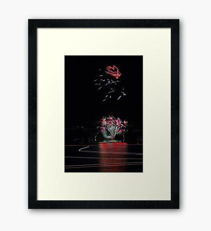 Point Walter Fireworks  Framed Print