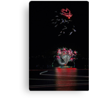 Point Walter Fireworks  Canvas Print