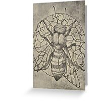 Bee etching  Greeting Card