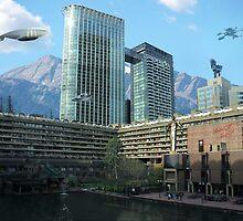 Futuristic City by FlyNebula