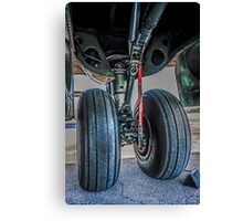 Wheels on the plane.... Canvas Print