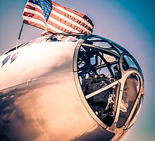 Sunset over a B29 by chris-csfotobiz