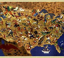 Folklore Map of America / United States by CooliPhones