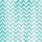 Blue Watercolor Chevron Pattern by Ivaleksa