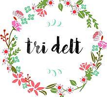 Tri Delt Wreath by SLEV