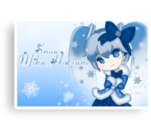 Snow Miku Hatsune Canvas Print