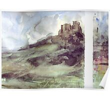Watercolour countryside Spain Poster