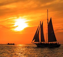 Sailing into the Sunset by AJPhotographic