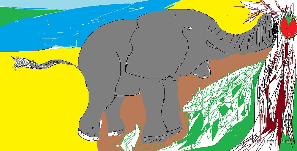 Animal: Elephant/(imaginary) -(020314)- Digital artwork/MS Paint by paulramnora