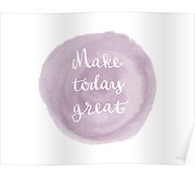 Abstract Pale Purple Watercolor Design Poster