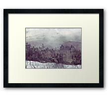 Plein Air Snow Framed Print