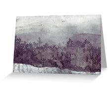 Plein Air Snow Greeting Card
