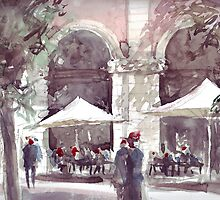 Watercolour sketch after Antonio Giacomin. The original can be seen on his site http://www.antoniogiacomin.com by peterpeter