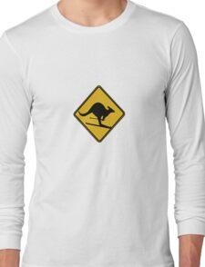Skiing kangaroo Long Sleeve T-Shirt