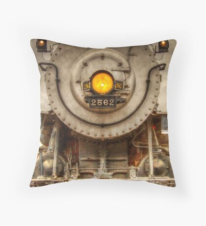 Locomotive 2562 Throw Pillow