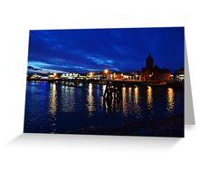 Cardiff Bay at Night Greeting Card