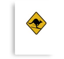 Skiing kangaroo Canvas Print