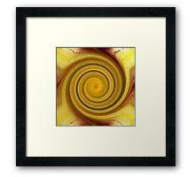 Golden Swirl Framed Print